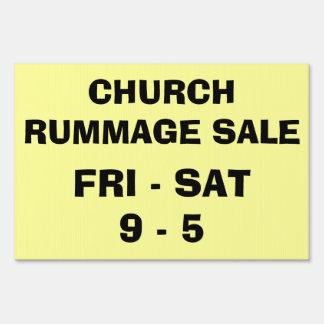 CHURCH RUMMAGE SALE LAWN SIGNS