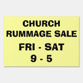 CHURCH RUMMAGE SALE SIGN
