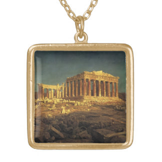 "Church's ""Parthenon"" Gold Plated Necklace"