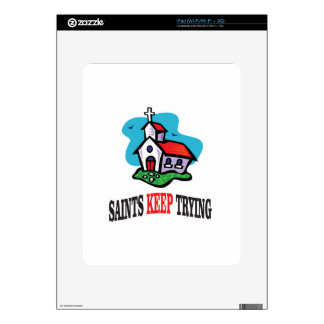 church saints keep trying decals for iPad
