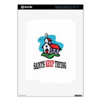 church saints keep trying skin for iPad 3