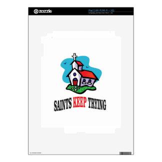 church saints keep trying skins for iPad 2