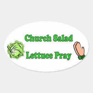 Church Salad, Lettuce Pray Stickers