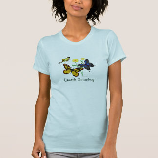 Church Secretary Butterflies T-Shirt