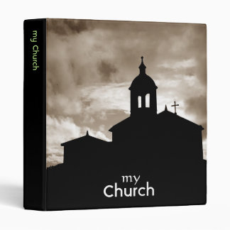 Church silhouette 3 ring binders