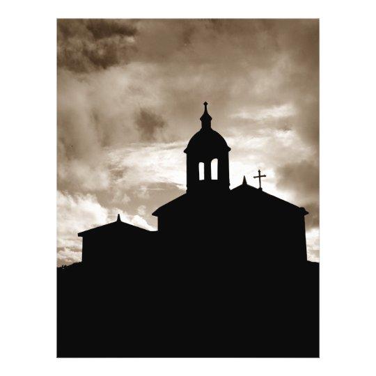 Church silhouette flyer