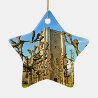church Sint Anna ter Muiden in Sluis, Netherlands Ceramic Ornament
