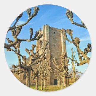 church Sint Anna ter Muiden in Sluis, Netherlands Classic Round Sticker