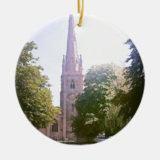 Church spire ceramic ornament