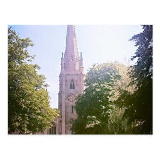 Church spire postcard