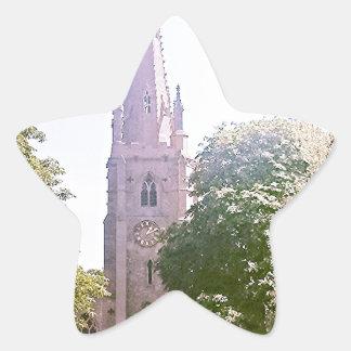 Church spire star sticker