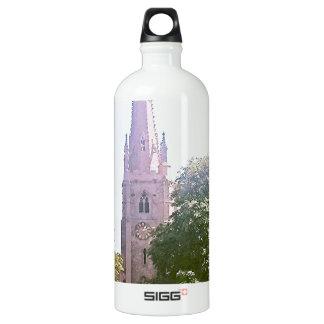 Church spire water bottle