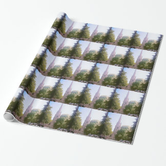 Church spire wrapping paper
