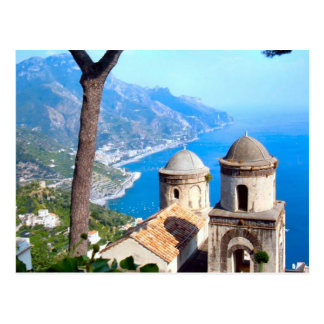 Church spires on the Amalfi coast Postcard