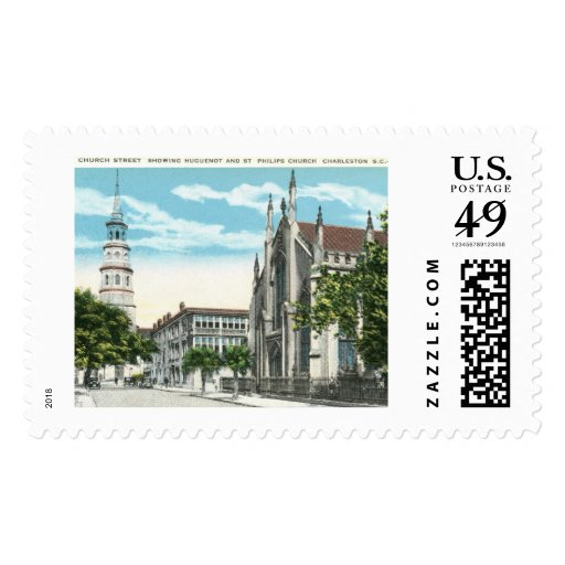 Church St., Charleston, South Carolina Vintage Stamps