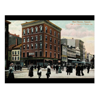 Church St. New Haven 1908 Vintage Postcard