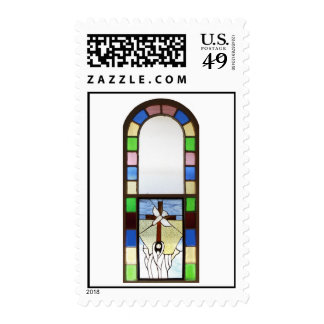 Church Stained Glass Window Stamps