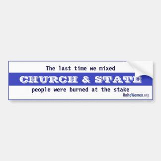 Church & State Bumper Sticker