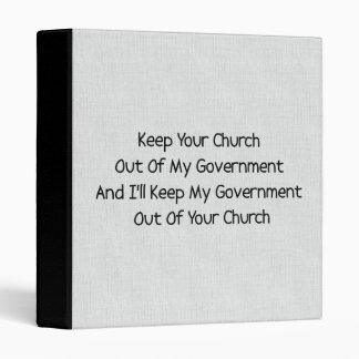 Church State Separation Binder