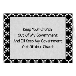 Church State Separation Card