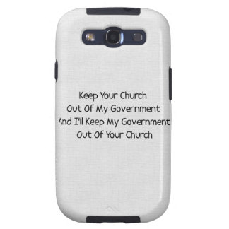 Church State Separation Samsung Galaxy SIII Cover