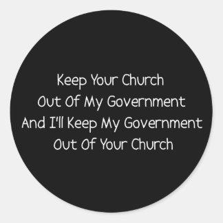 Church State Separation Classic Round Sticker