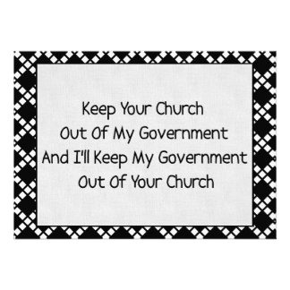 Church State Separation Custom Announcements
