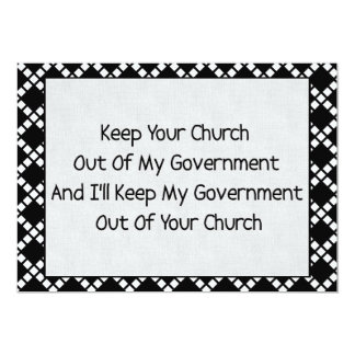 Church State Separation 5x7 Paper Invitation Card