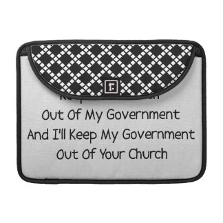 Church State Separation Sleeve For MacBooks
