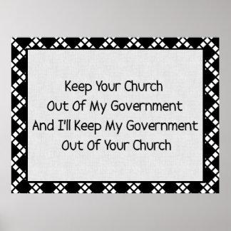 Church State Separation Print