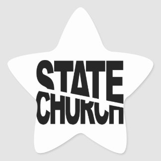 Church State Separation Star Sticker