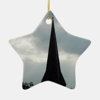 Church Steeple in Ireland Ceramic Ornament