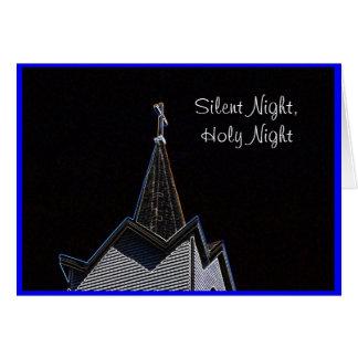 Church Steeple Silent Night Greeting Card