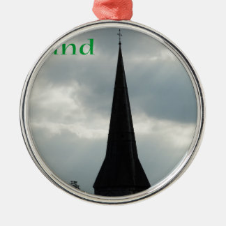 Church Steeple with Ireland Metal Ornament