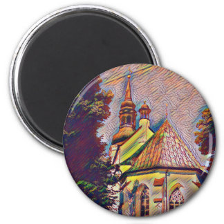 Church Steeples Artistic Photo Manipulation Magnet