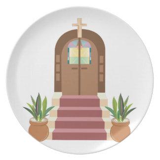 Church Steps Melamine Plate