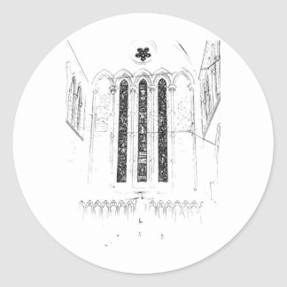 Church Round Sticker