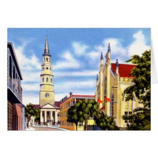 Church Street in Charleston South Carolina 1920 Cards