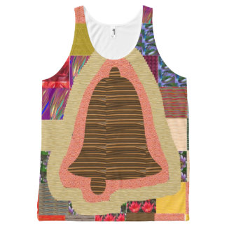 Church Temple Bell graphic HappyBirthday Birthday All-Over-Print Tank Top