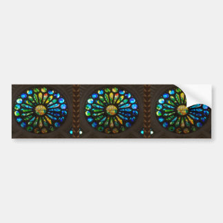 Church Temple Wall Stained Glass Art Deco gifts Bumper Sticker