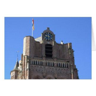 Church tower card
