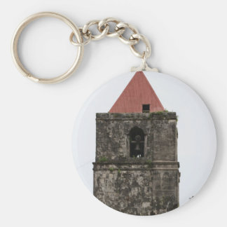 Church tower of Guiuan Basic Round Button Keychain