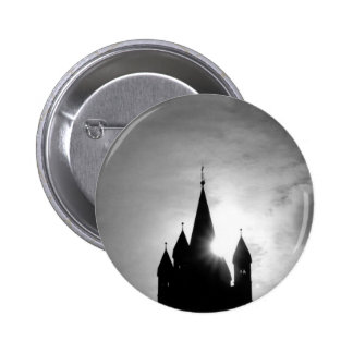 church tower pinback button