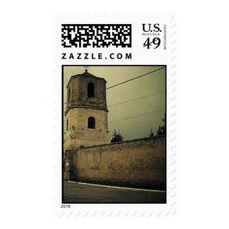 church tower postage stamps
