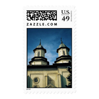 church tower postage stamp