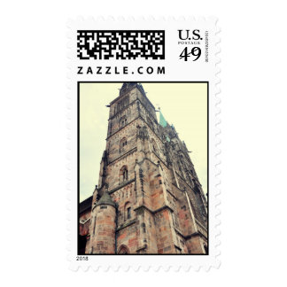 Church tower stamp