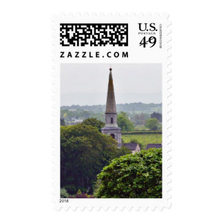 Church Towers Seen Form The Rock Of Cashel Postage Stamp