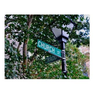 Church & Tradd St. Post Cards