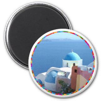 Church Views on Santorini Greece Magnets
