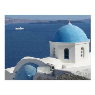 Church Views on Santorini Greece Post Cards